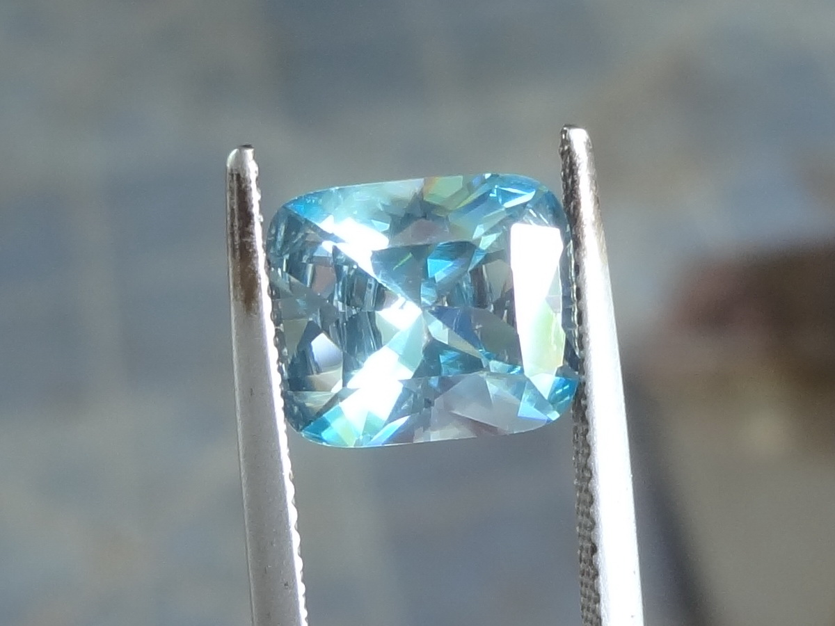 Large natural blue Zircon, very clean and affordable.
