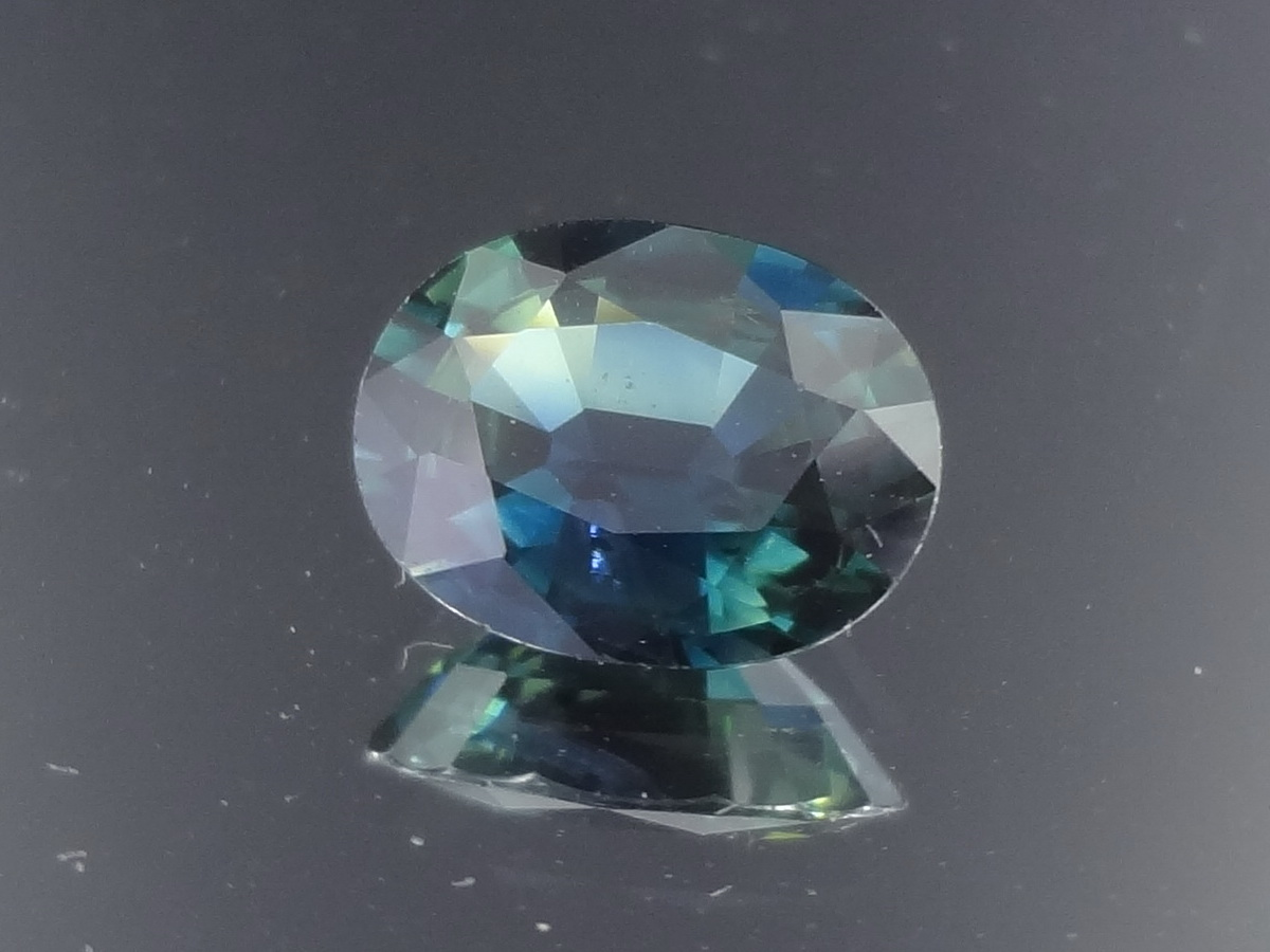 Navy Blue and Green Sapphire from Madagascar.