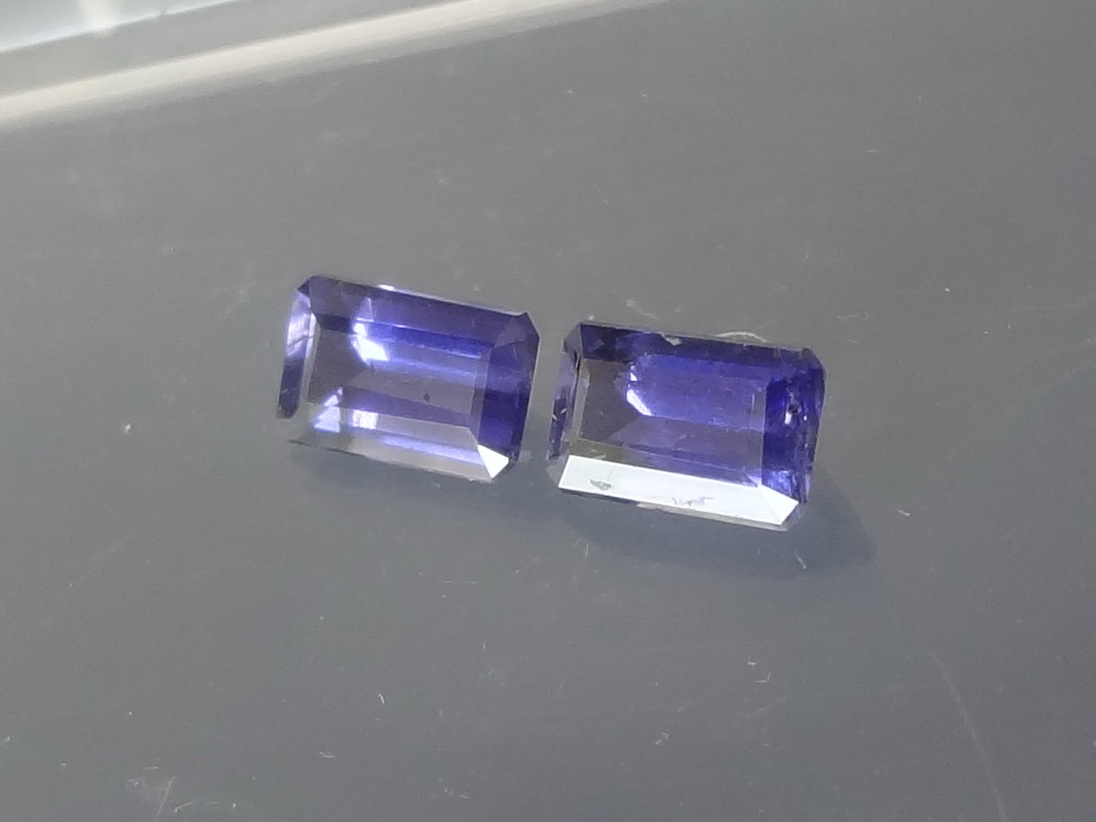 Affordable Purple Iolite Gemstones Pair with Emerald cut