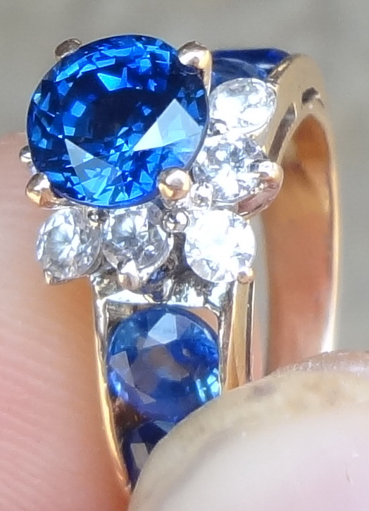 Real Pailin Sapphire gold ring