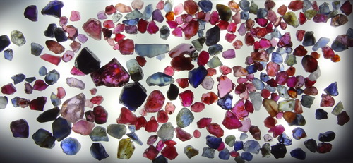 Real and Original Pailin Rough Ruby and Sapphire from the mine.