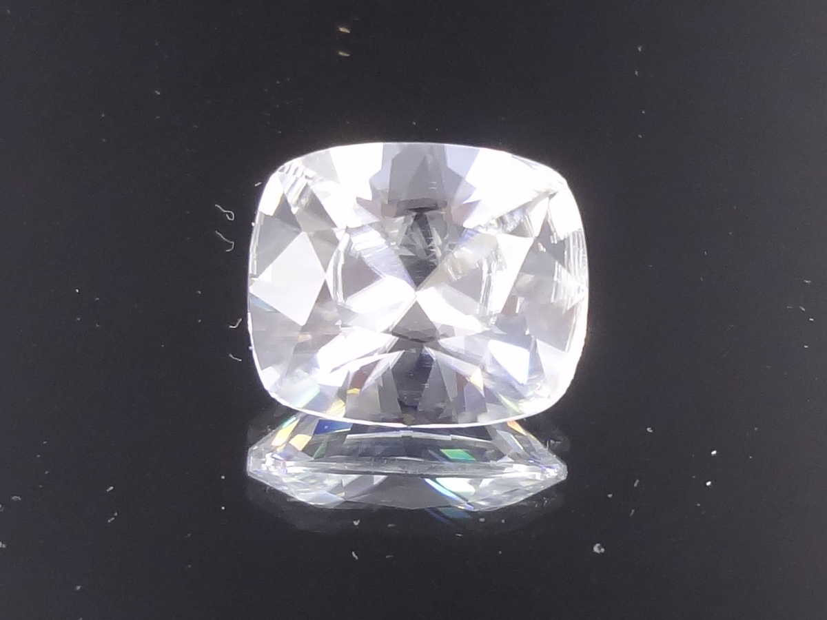 Perfect Natural White Zircon Diamond Cut