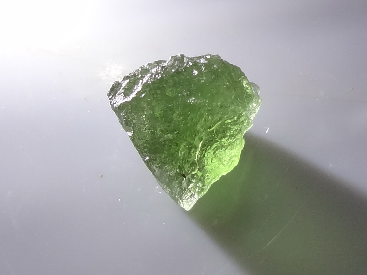 Best Color Light Green Natural Moldavite Crystal Specimen