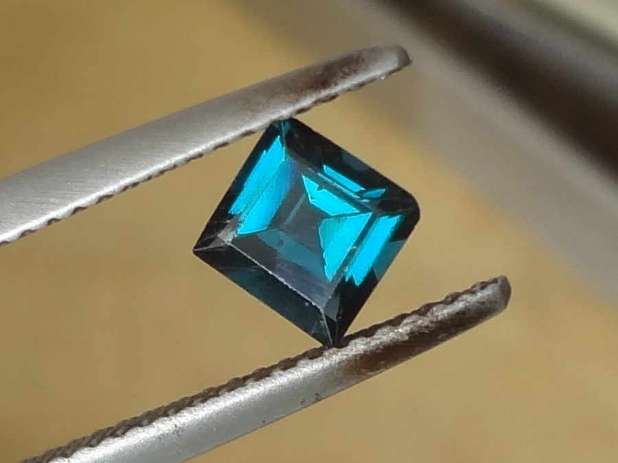 Beautiful Blue-Green Square Spinel from Sri Lanka (Ceylon)