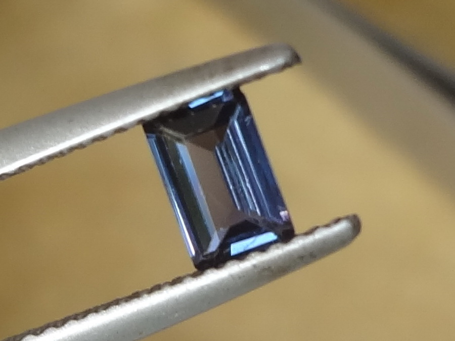 Beautiful Blue to Violet-Purple Baguette Spinel from Sri Lanka (Ceylon)