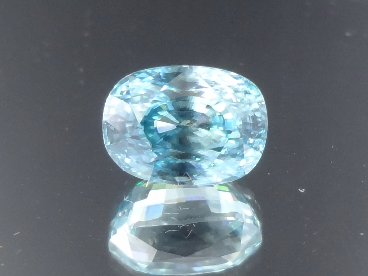 7.53ct Sky Blue Zircon, Cushion Cut