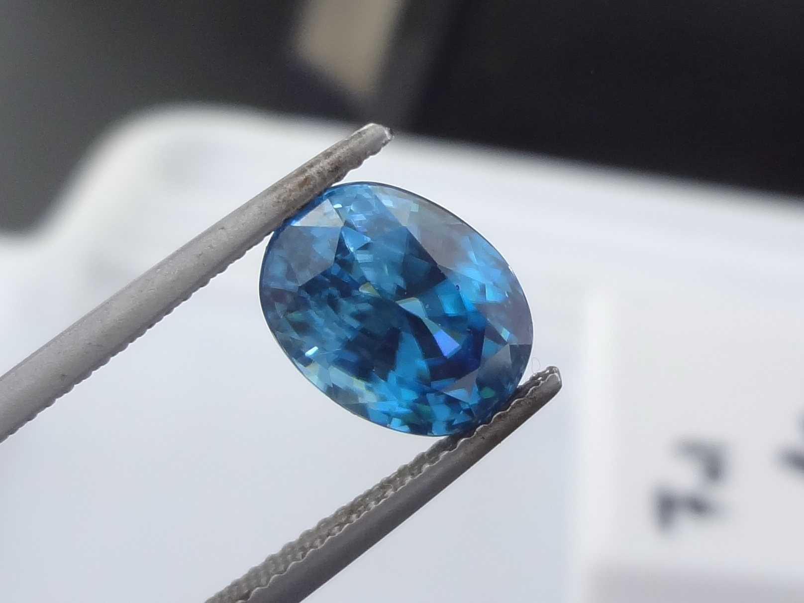 Top A- Colour - Oval Cut Blue Zircon