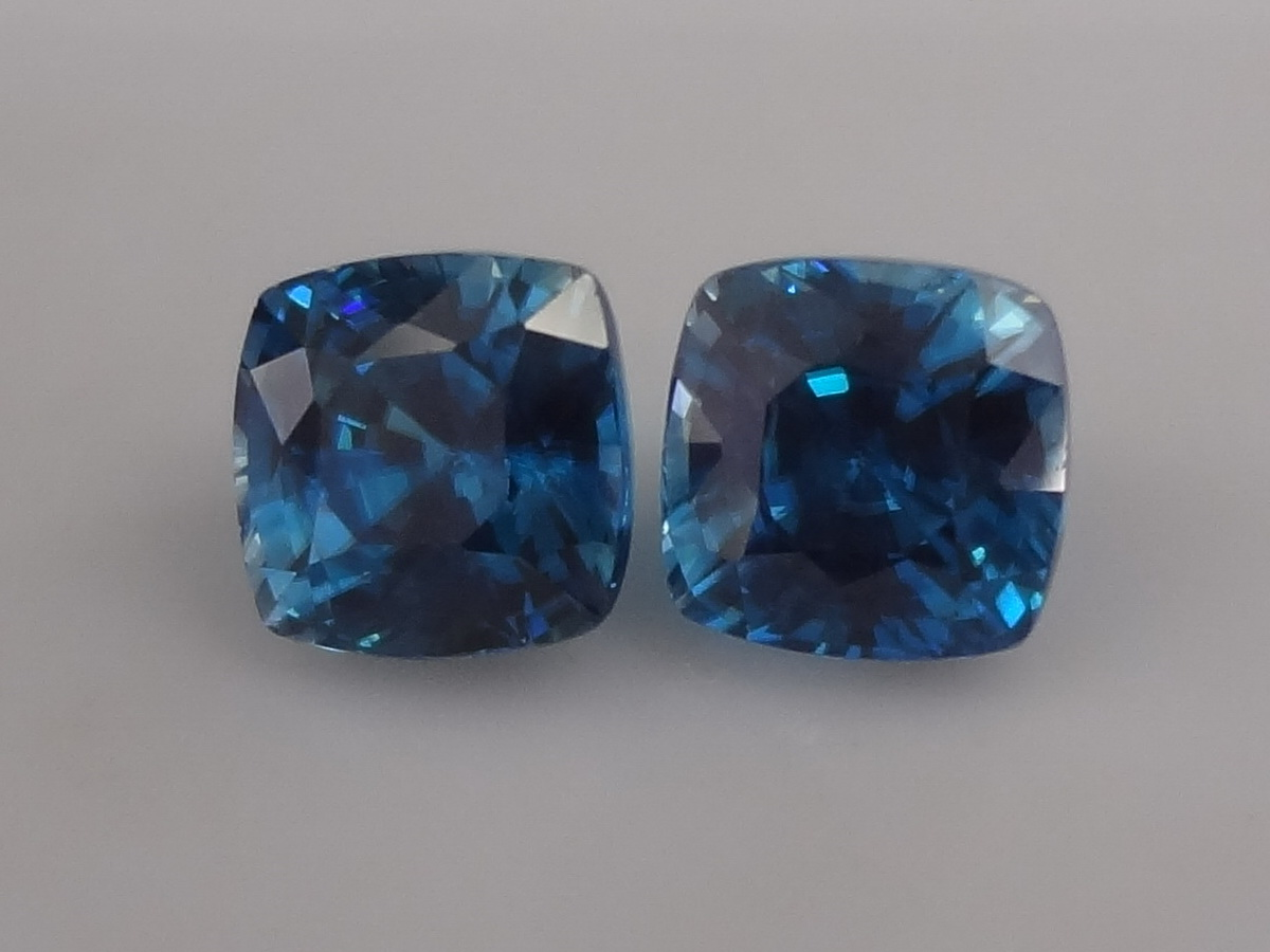 Top A-AAA Colour - Cut Grade Calibrated Pair of Blue Zircon