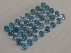 Good color (A and B grade) Cambodia blue Zircon Calibrated 6mm Round Cut