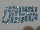 Cambodia blue Zircon Calibrated 5mm Round Cut