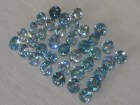 Cambodia blue Zircon Calibrated 6mm Round Cut