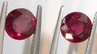 Buy Calibrated Pair of Rhodolite, professional gemstones supplier.