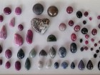 Sapphire and Ruby Cabochons: various colors and fancy cut and polished shapes for designer jewelry