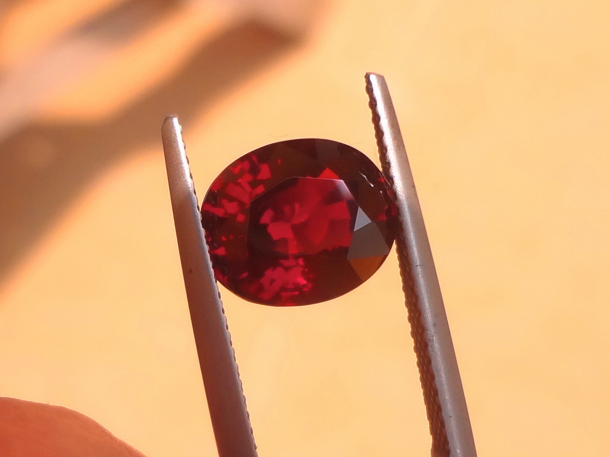 Oval Rhodolite Garnet Lose Gemstone Perfect for a Ring